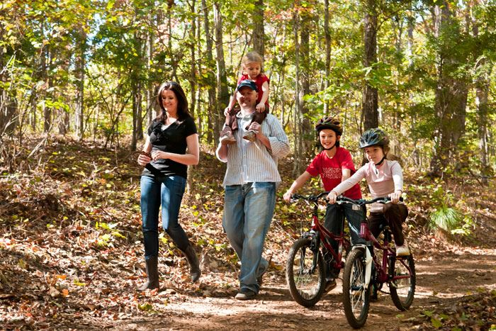Foxhall family on trails